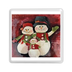 Snowman Family No  2 Memory Card Reader (square)