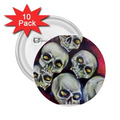 Halloween Skulls No 1 2 25  Buttons (10 Pack)  by timelessartoncanvas