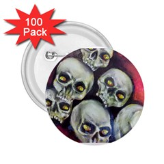 Halloween Skulls No 1 2 25  Buttons (100 Pack)  by timelessartoncanvas