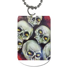 Halloween Skulls No 1 Dog Tag (two Sides) by timelessartoncanvas
