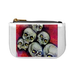 Halloween Skulls No 1 Mini Coin Purses by timelessartoncanvas