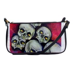 Halloween Skulls No 1 Shoulder Clutch Bags by timelessartoncanvas