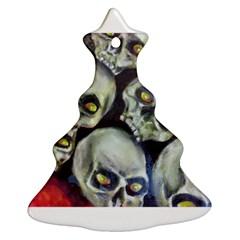 Halloween Skulls No 1 Christmas Tree Ornament (2 Sides) by timelessartoncanvas