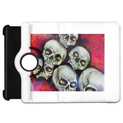 Halloween Skulls No 1 Kindle Fire Hd Flip 360 Case by timelessartoncanvas