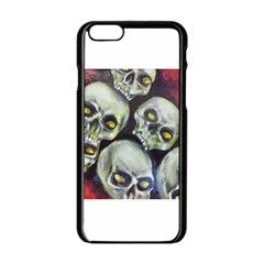 Halloween Skulls No 1 Apple Iphone 6 Black Enamel Case by timelessartoncanvas
