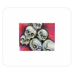 Halloween Skulls No 1 Double Sided Flano Blanket (small)  by timelessartoncanvas
