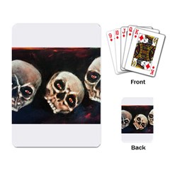 Halloween Skulls No  2 Playing Card by timelessartoncanvas