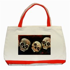 Halloween Skulls No  2 Classic Tote Bag (red)  by timelessartoncanvas