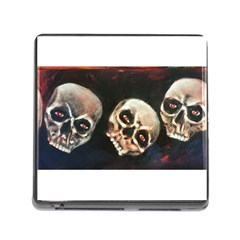 Halloween Skulls No  2 Memory Card Reader (square) by timelessartoncanvas