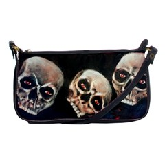 Halloween Skulls No  2 Shoulder Clutch Bags by timelessartoncanvas