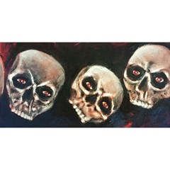 Halloween Skulls No. 2 YOU ARE INVITED 3D Greeting Card (8x4)  by timelessartoncanvas
