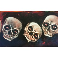 Halloween Skulls No  2 Birthday Cake 3d Greeting Card (7x5)