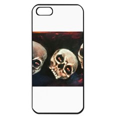 Halloween Skulls No  2 Apple Iphone 5 Seamless Case (black) by timelessartoncanvas