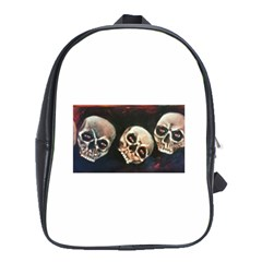 Halloween Skulls No  2 School Bags (xl)  by timelessartoncanvas