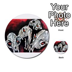 Halloween Skulls No  3 Multi Purpose Cards (round)  by timelessartoncanvas