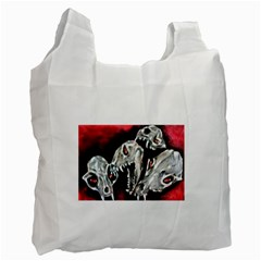 Halloween Skulls No  3 Recycle Bag (two Side)  by timelessartoncanvas