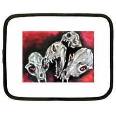 Halloween Skulls No  3 Netbook Case (xl)  by timelessartoncanvas