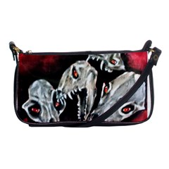 Halloween Skulls No  3 Shoulder Clutch Bags by timelessartoncanvas