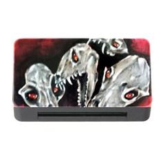 Halloween Skulls No. 3 Memory Card Reader with CF by timelessartoncanvas