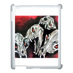 Halloween Skulls No  3 Apple Ipad 3/4 Case (white) by timelessartoncanvas