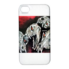 Halloween Skulls No  3 Apple Iphone 4/4s Hardshell Case With Stand by timelessartoncanvas
