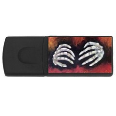 Halloween Bones Usb Flash Drive Rectangular (4 Gb)  by timelessartoncanvas