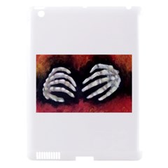 Halloween Bones Apple Ipad 3/4 Hardshell Case (compatible With Smart Cover) by timelessartoncanvas