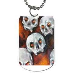 Halloween Skulls No  4 Dog Tag (two Sides) by timelessartoncanvas
