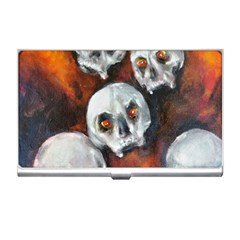 Halloween Skulls No  4 Business Card Holders by timelessartoncanvas