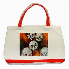 Halloween Skulls No  4 Classic Tote Bag (red)  by timelessartoncanvas