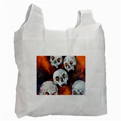 Halloween Skulls No  4 Recycle Bag (two Side)  by timelessartoncanvas