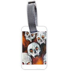 Halloween Skulls No  4 Luggage Tags (one Side)  by timelessartoncanvas