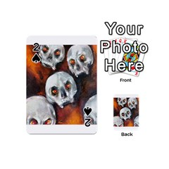 Halloween Skulls No  4 Playing Cards 54 (mini)  by timelessartoncanvas