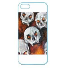 Halloween Skulls No  4 Apple Seamless Iphone 5 Case (color) by timelessartoncanvas