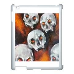 Halloween Skulls No  4 Apple Ipad 3/4 Case (white) by timelessartoncanvas