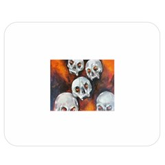 Halloween Skulls No  4 Double Sided Flano Blanket (medium)  by timelessartoncanvas