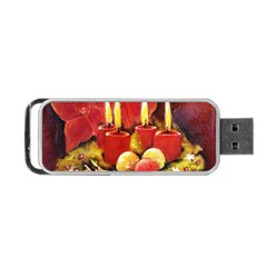 Holiday Candles  Portable Usb Flash (one Side) by timelessartoncanvas