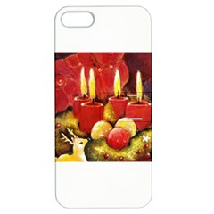Holiday Candles  Apple Iphone 5 Hardshell Case With Stand by timelessartoncanvas