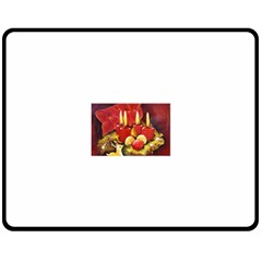 Holiday Candles  Double Sided Fleece Blanket (medium)  by timelessartoncanvas