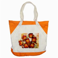 Fall Flowers Accent Tote Bag  by timelessartoncanvas