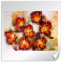Fall Flowers Canvas 16  X 16   by timelessartoncanvas