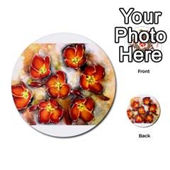 Fall Flowers Multi Purpose Cards (round)  by timelessartoncanvas
