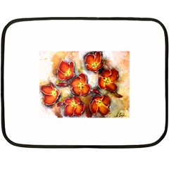 Fall Flowers Double Sided Fleece Blanket (mini)  by timelessartoncanvas