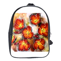 Fall Flowers School Bags(large)  by timelessartoncanvas