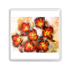 Fall Flowers Memory Card Reader (square)