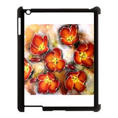 Fall Flowers Apple Ipad 3/4 Case (black) by timelessartoncanvas