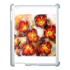 Fall Flowers Apple Ipad 3/4 Case (white) by timelessartoncanvas