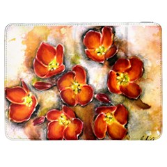 Fall Flowers Samsung Galaxy Tab 7  P1000 Flip Case by timelessartoncanvas