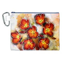 Fall Flowers Canvas Cosmetic Bag (xxl)  by timelessartoncanvas