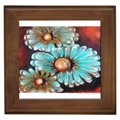 Fall Flowers No  2 Framed Tiles by timelessartoncanvas